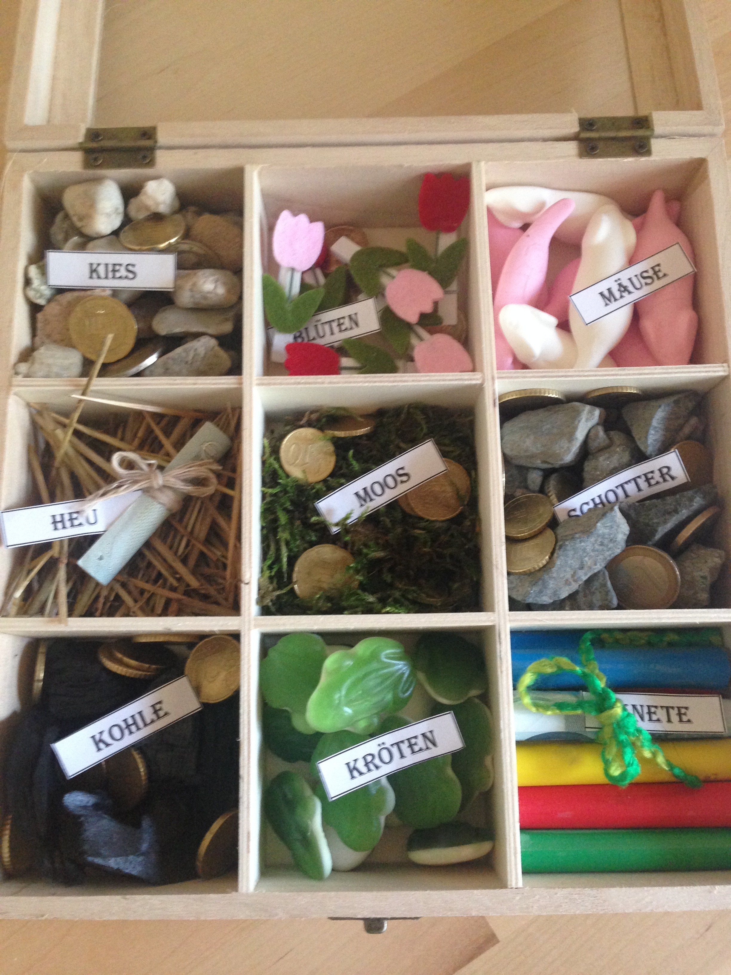 Hochzeitsgeschenk Kiste Kies Kohle Kapanos