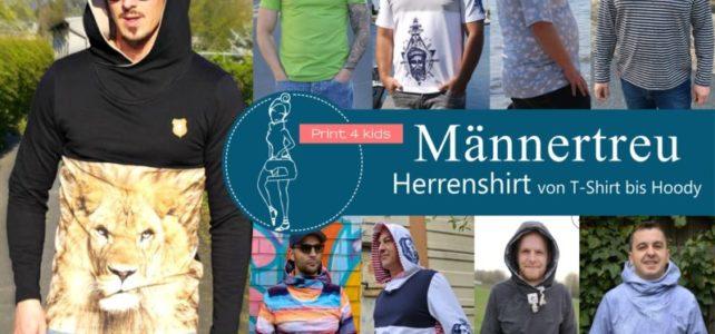GENÄHT – Print4Kids Hoodie für Männer